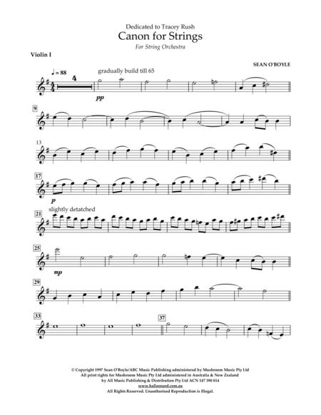 Canon for Strings - Violin I