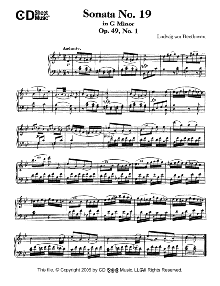 Sonata No. 19 In G Minor, Op. 49, No. 1