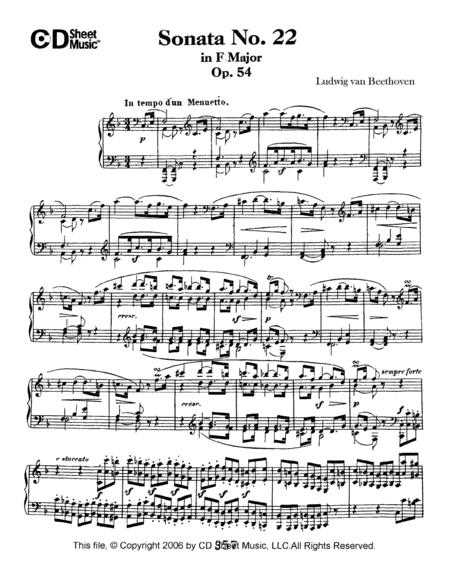 Sonata No. 22 In F Major, Op. 54