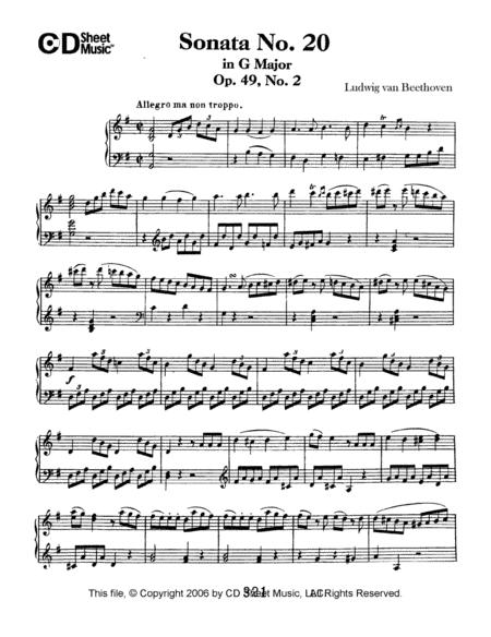 Sonata No. 20 In G Major, Op. 49, No. 2