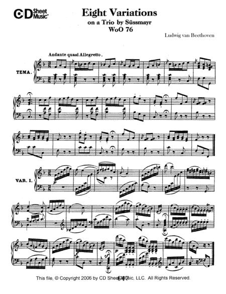 Variations (8) On A Trio By Sussmayr, Woo 76