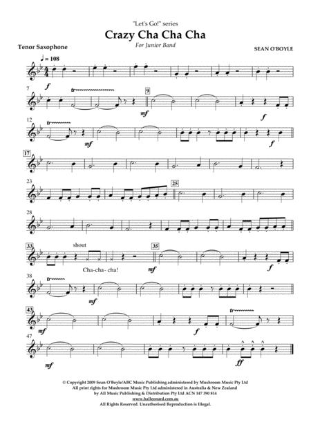 Crazy Cha Cha Cha - Tenor Saxophone