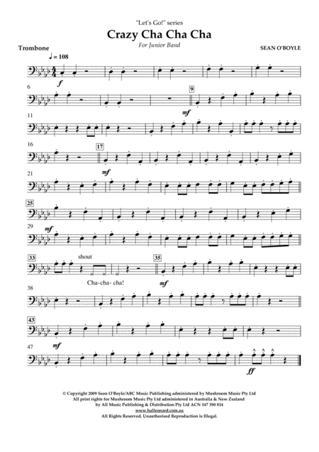 Crazy Cha Cha Cha - Trombone
