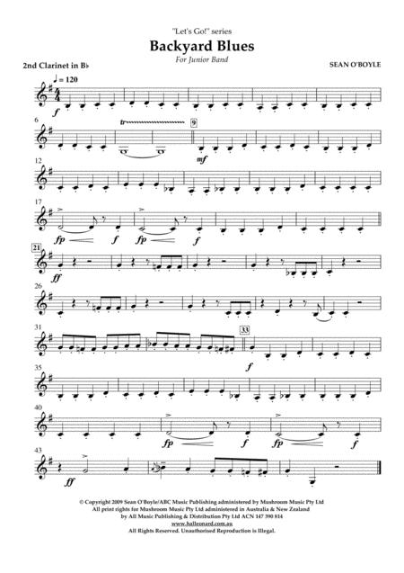Backyard Blues - Bb Clarinet 2