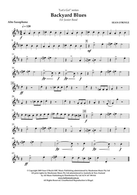 Backyard Blues - Alto Saxophone