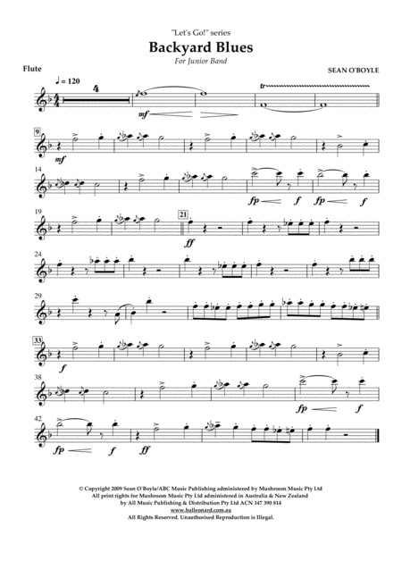 Backyard Blues - Flute