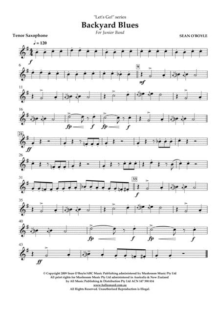 Backyard Blues - Tenor Saxophone