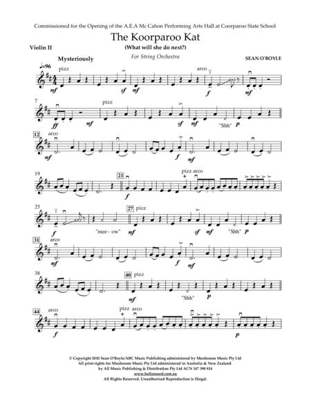The Koorparoo Kat - Violin II