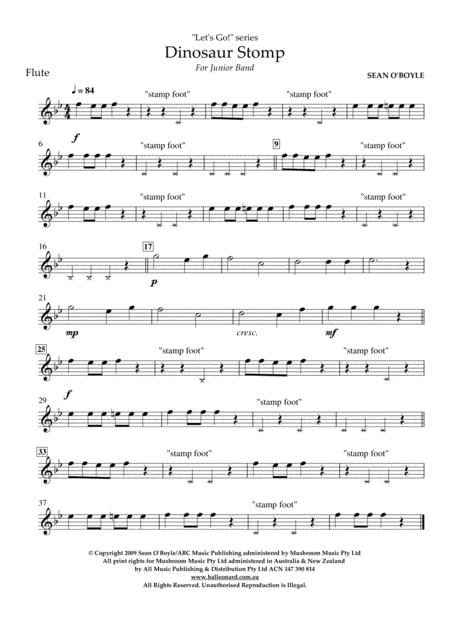 Dinosaur Stomp - Flute