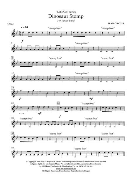 Dinosaur Stomp - Oboe