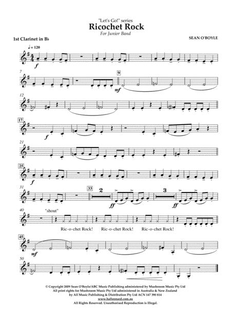 Ricochet Rock - Bb Clarinet 1