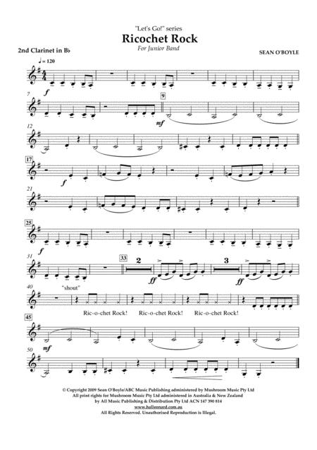 Ricochet Rock - Bb Clarinet 2