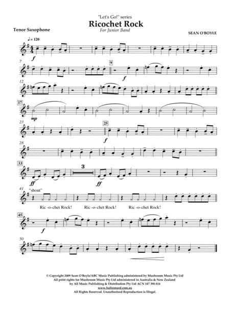 Ricochet Rock - Tenor Sax