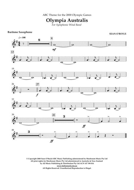 Olympia Australis (Symphonic Wind Band) - Baritone Saxophone