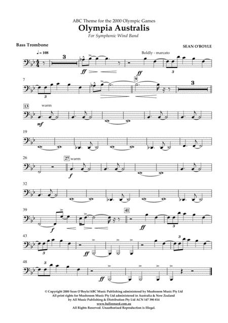 Olympia Australis (Symphonic Wind Band) - Bass Trombone