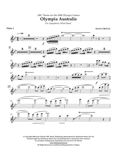 Olympia Australis (Symphonic Wind Band) - Flute 1
