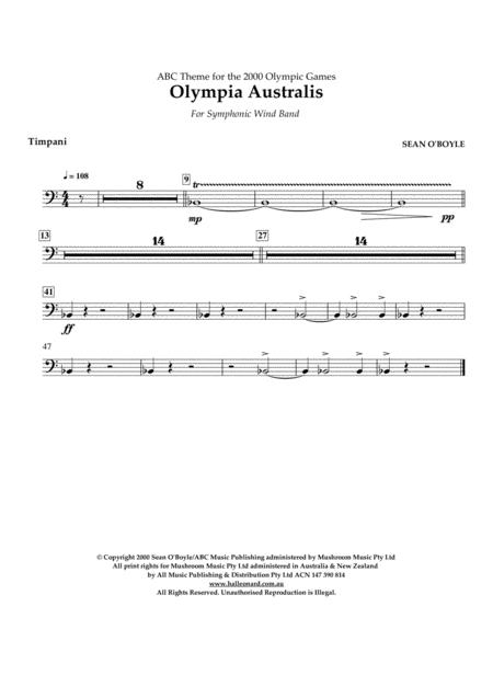 Olympia Australis (Symphonic Wind Band) - Timpani