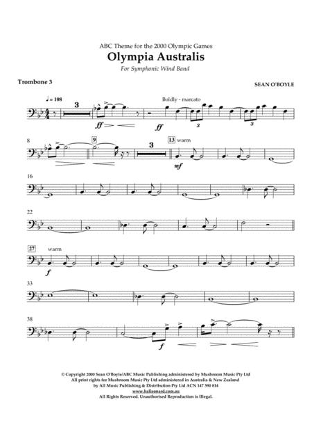 Olympia Australis (Symphonic Wind Band) - Trombone 3
