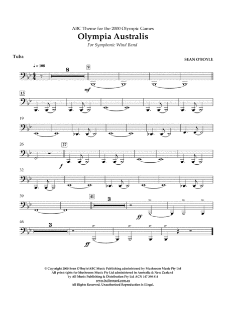 Olympia Australis (Symphonic Wind Band) - Tuba