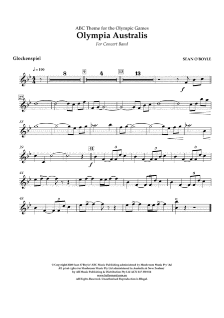 Olympia Australis (Concert Band) - Glockenspiel