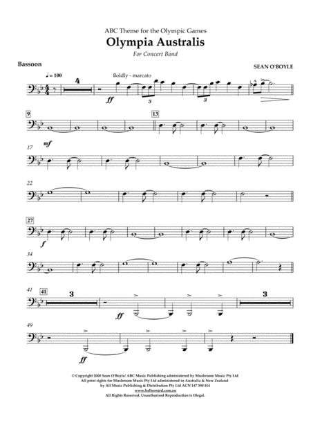 Olympia Australis (Concert Band) - Bassoon