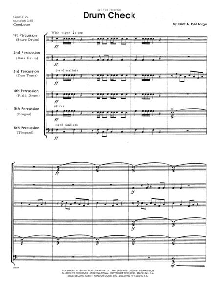Drum Check - Full Score