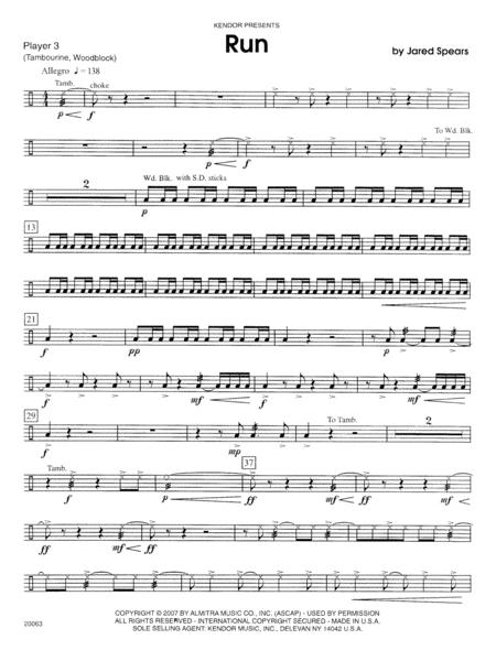 Run - Percussion 3