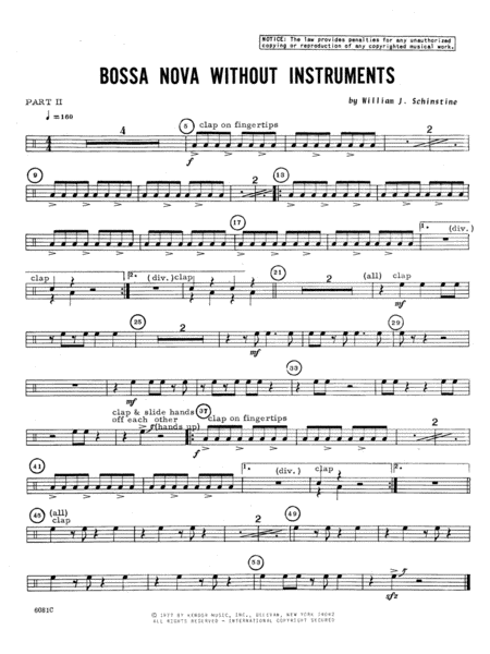 Bossa Nova Without Instruments - Percussion 2