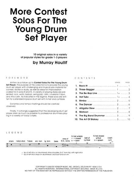 More Contest Solos For The Young Drum Set Player