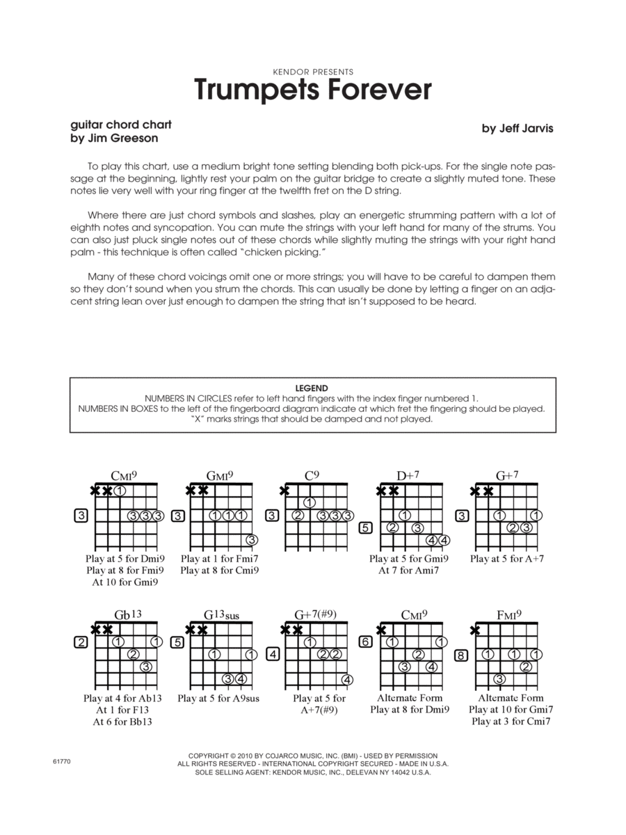 Trumpets Forever - Guitar Chord Chart