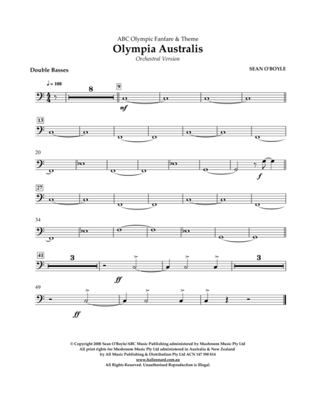 Olympia Australis (Orchestra) - Double Bass