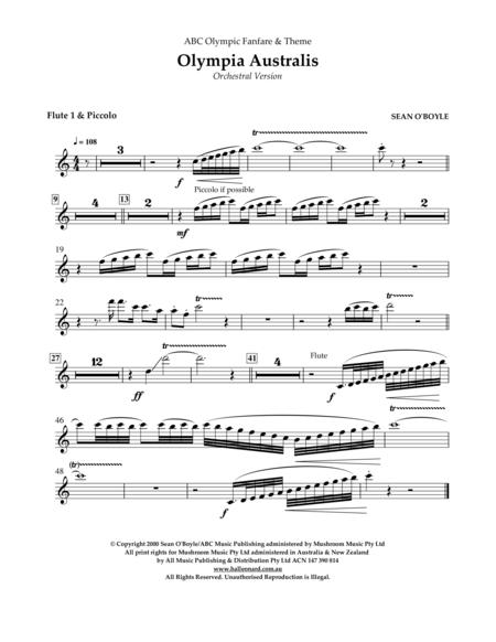 Olympia Australis (Orchestra) - Flute 1/Picollo