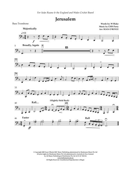 Jerusalem (in key of F) - Bass Trombone