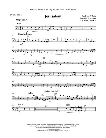Jerusalem (in key of F) - Double Bass