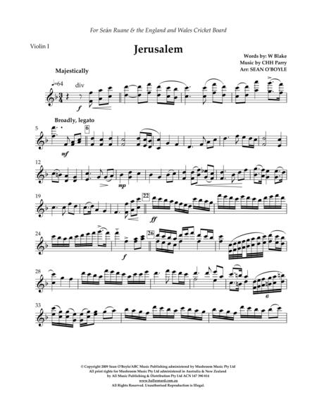 Jerusalem (in key of F) - Violin I