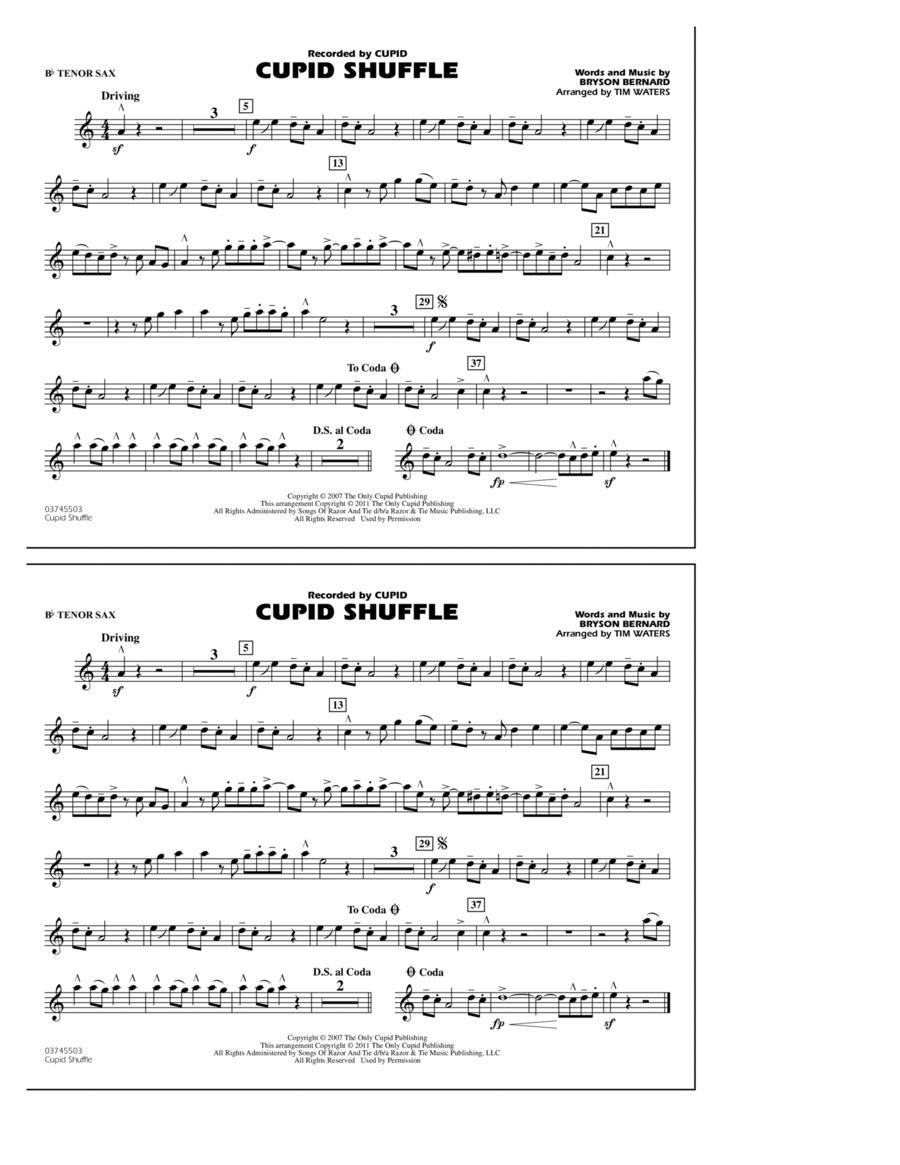Cupid Shuffle - Bb Tenor Sax