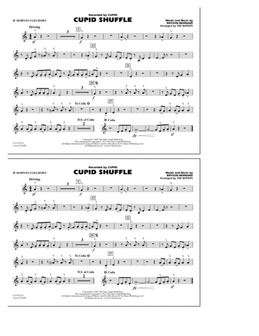 Cupid Shuffle - Bb Horn/Flugelhorn