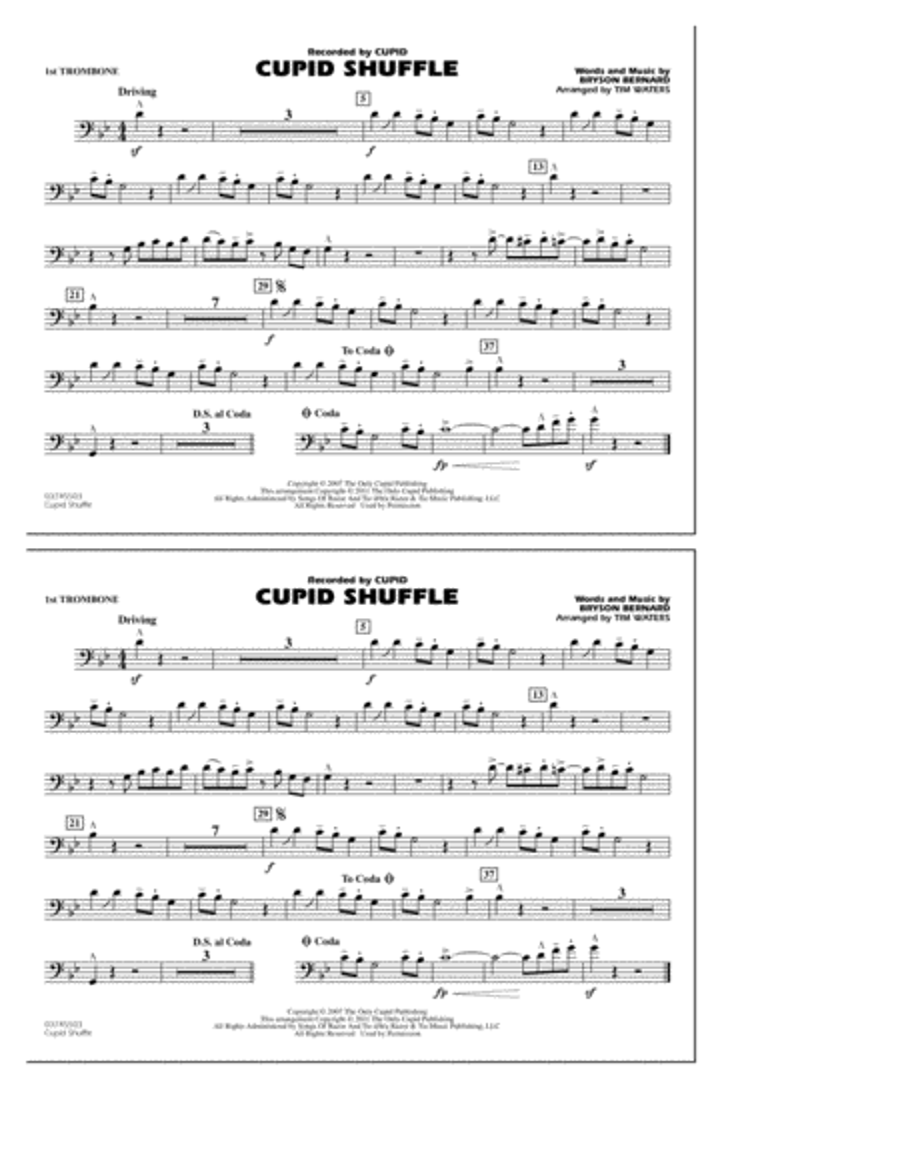 Cupid Shuffle - 1st Trombone