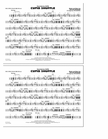 Cupid Shuffle - Multiple Bass Drums