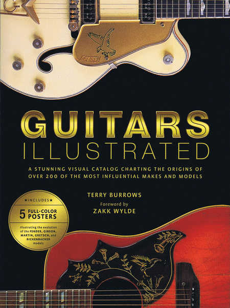 Illustrated Book Cover Guitar ~ Guitars illustrated sheet music by terry burrows