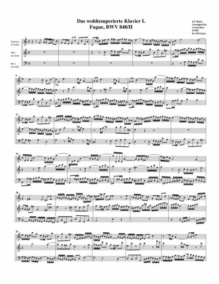 Fugue from Das wohltemperierte Klavier I, BWV 848/II