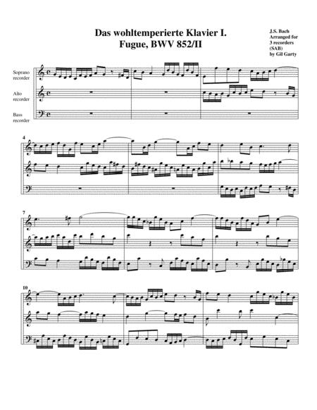 Fugue from Das wohltemperierte Klavier I, BWV 852/II