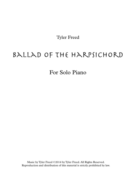 Ballad of the Harpsichord