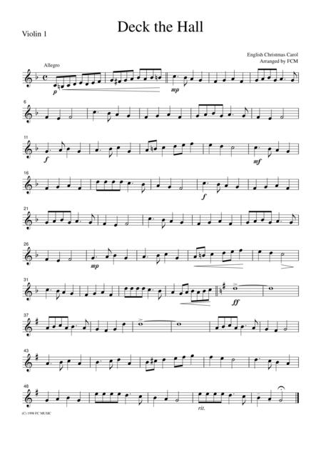 Christmas Carol  Deck the Hall, for string quartet, CH903