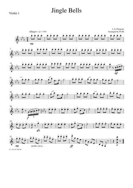 Christmas Carol  Jingle Bells, for string quartet, CH916