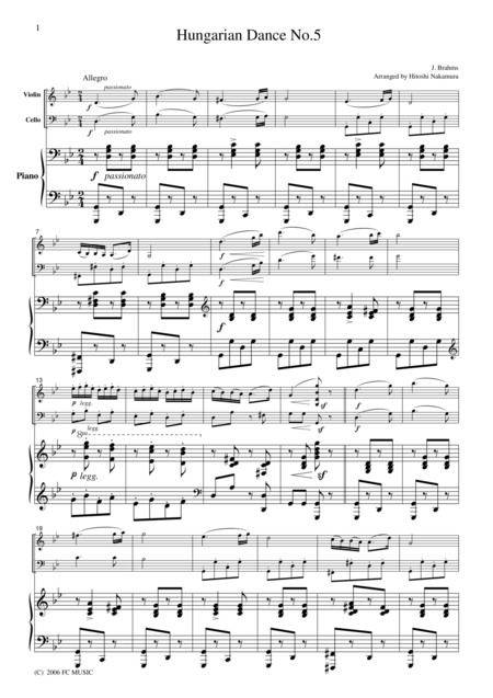 hungarian dance no 5 violin pdf