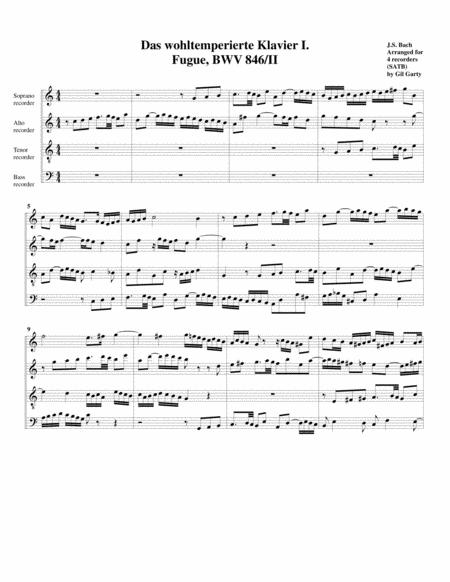 Fugue from Das wohltemperierte Klavier I, BWV 846/II