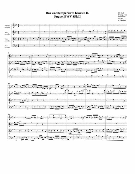 Fugue from Das wohltemperierte Klavier II, BWV 885/II