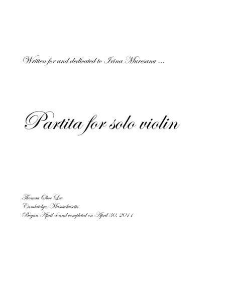 Partita for Solo Violin (2011)