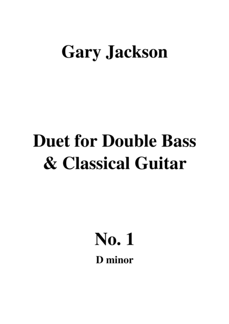 Duet for Double Bass and Classical Guitar No. 1 in D Minor